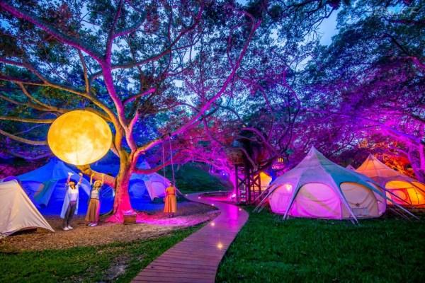 苗栗,野奢露營,豪華露營,勤美學,好夢里,太空歷險,月球,森林轉圈圈
