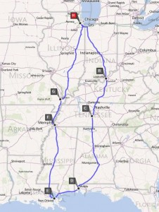 """My """"Great Circle"""" Route Through the Mid-South"""