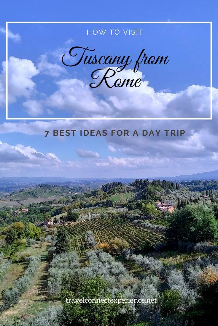 how to visit tuscany from rome