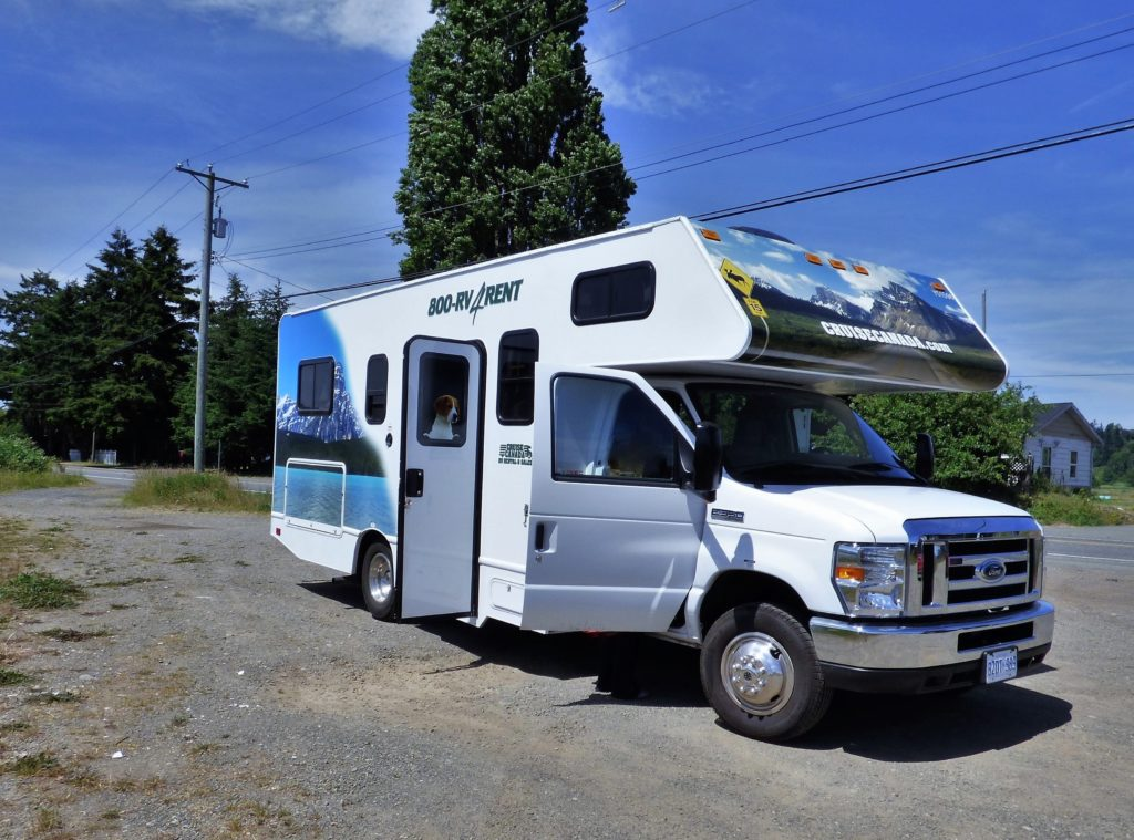 Our RV motorhome, courtesy of Cruise Canada