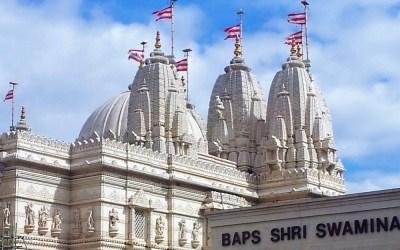 Hindu Blessings at London's Neasden Temple