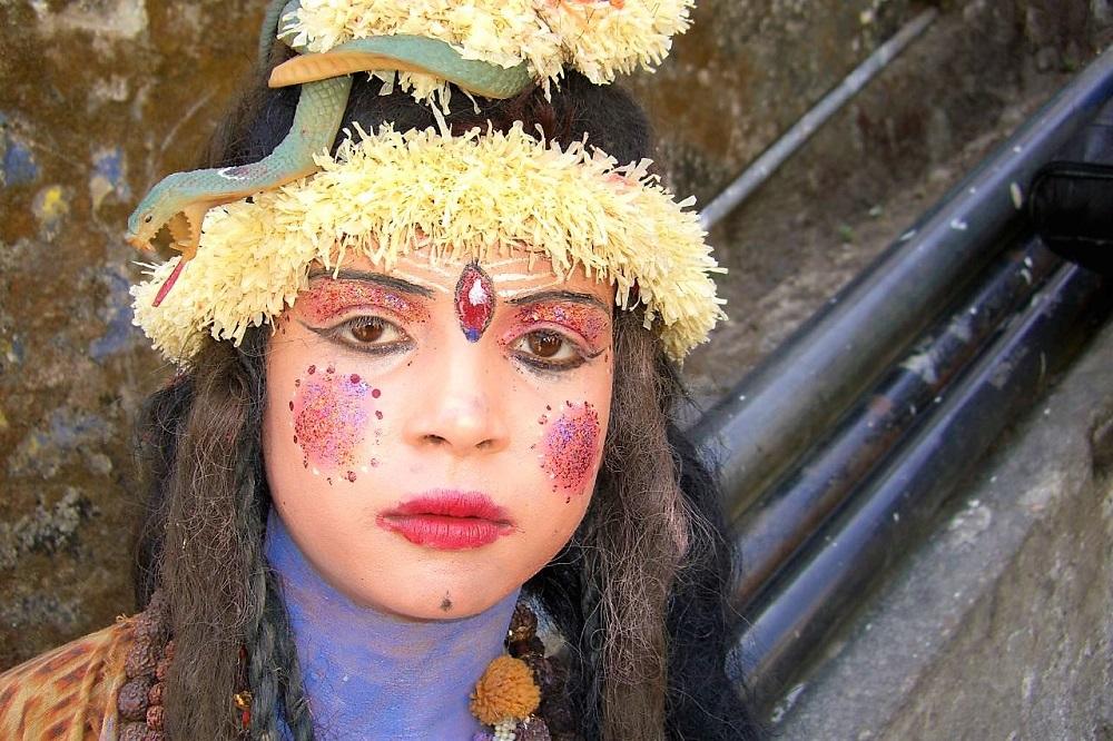 Girl Dressed as Lord Shiva Hindu God