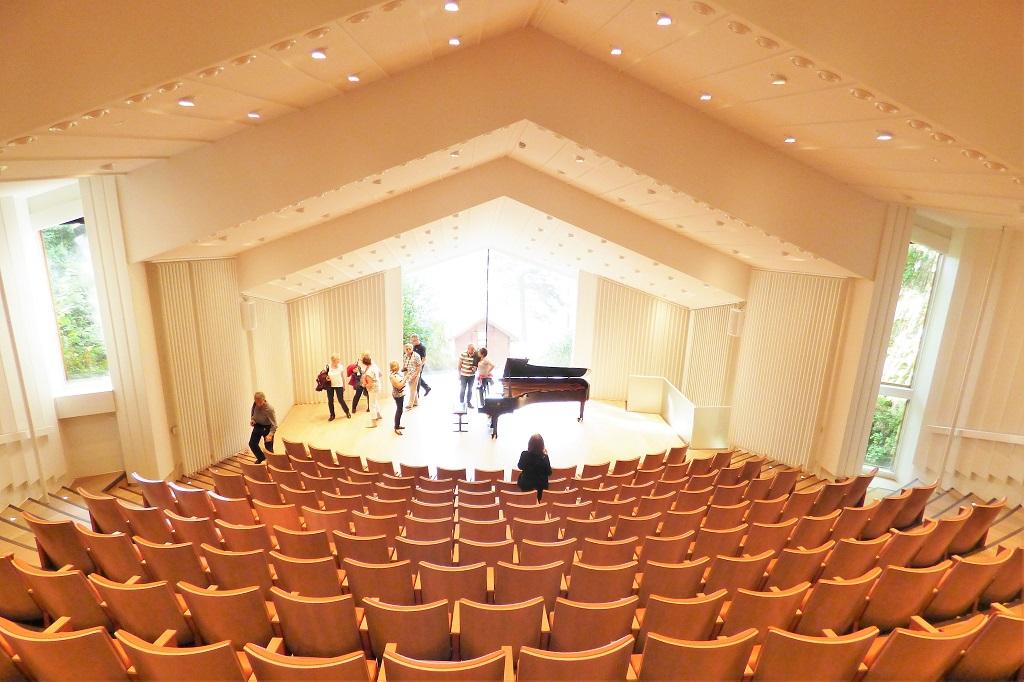 The Troldsalen music hall at Edvard Grieg's Troldhaugen home