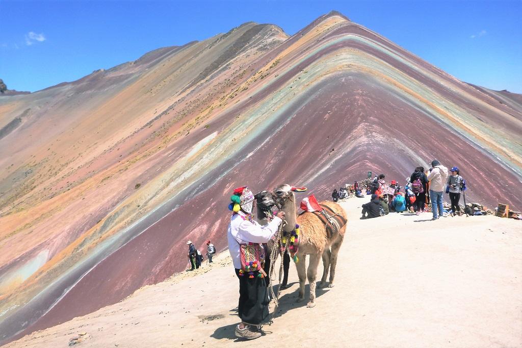 Vinicunca, the seven-coloured (aka Rainbow) mountain in Peru