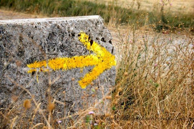 route markers on the Camino de Santiago