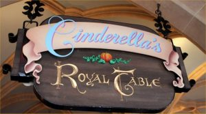 Cinderella's Royal Table Sign