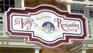 WDW Tony's Town Square Sign