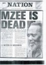 On 22 August 1978, President Kenyatta died in Mombasa of natural causes attributable to old age. Mzee Jomo Kenyatta was buried on 31 August 1978 in Nairobi in a state funeral at a mausoleum on Parliament grounds