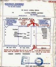Kenya Power Bill in 1973