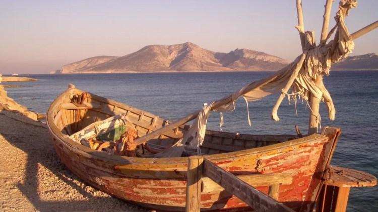barca su isola di Koufonissi