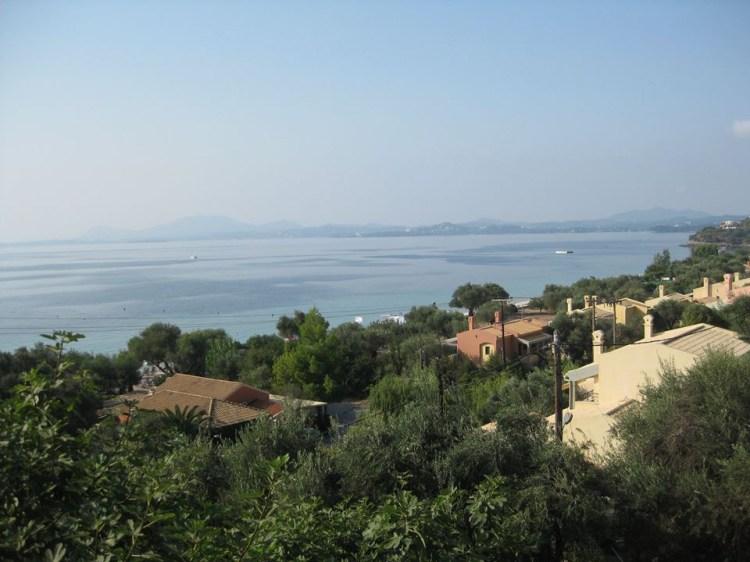 Panorama di Corfù, nelle Ionie