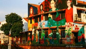 Malesia, murales a Malacca
