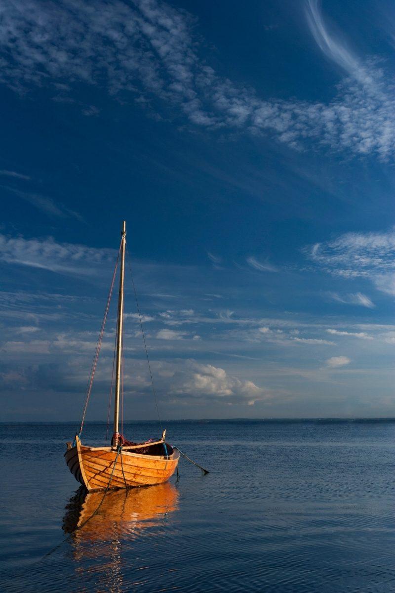 Barca nel mare di Spetses, Grecia