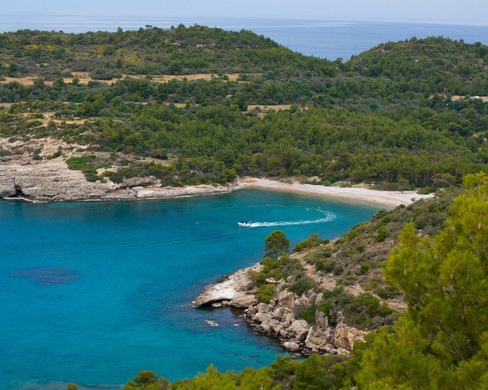 Panorama dall'alto di Spetses