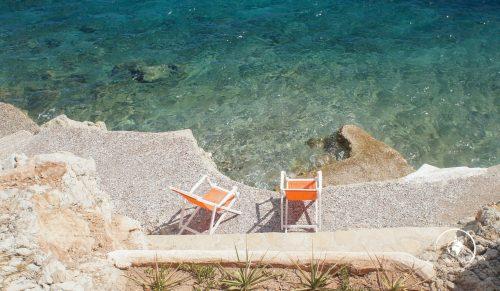 Il fondale della costa di Tilos
