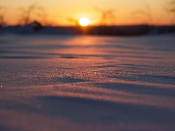 Tramonto invernale in Lapponia finlandese