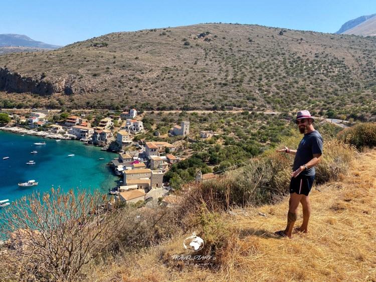 Panorama della baia di Limeni nel Mani, Grecia