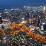 night skyline di Dubai, le curiosità