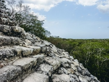 climb the Coba ruins - an ancient Maya Ruins in Mexico