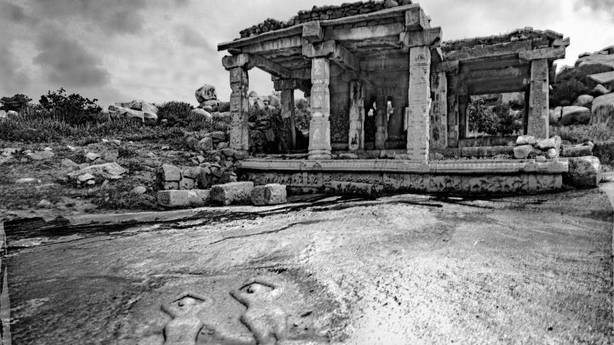Hampi in Monochrome