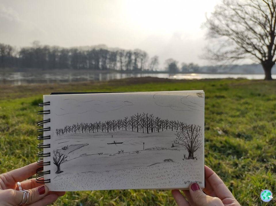 matar tiempo paisaje pintar