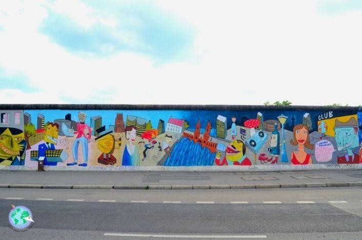 Pintura del muro de Berlín que separa el este del oeste