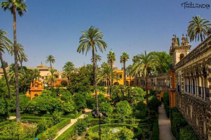 Jardines de Carlos V en el Alcázar de Sevilla