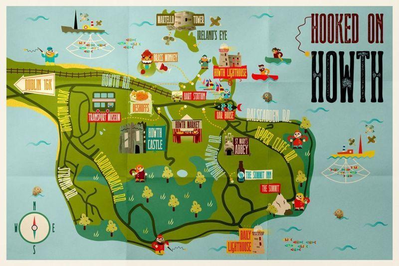 Mapa turístico de Howth