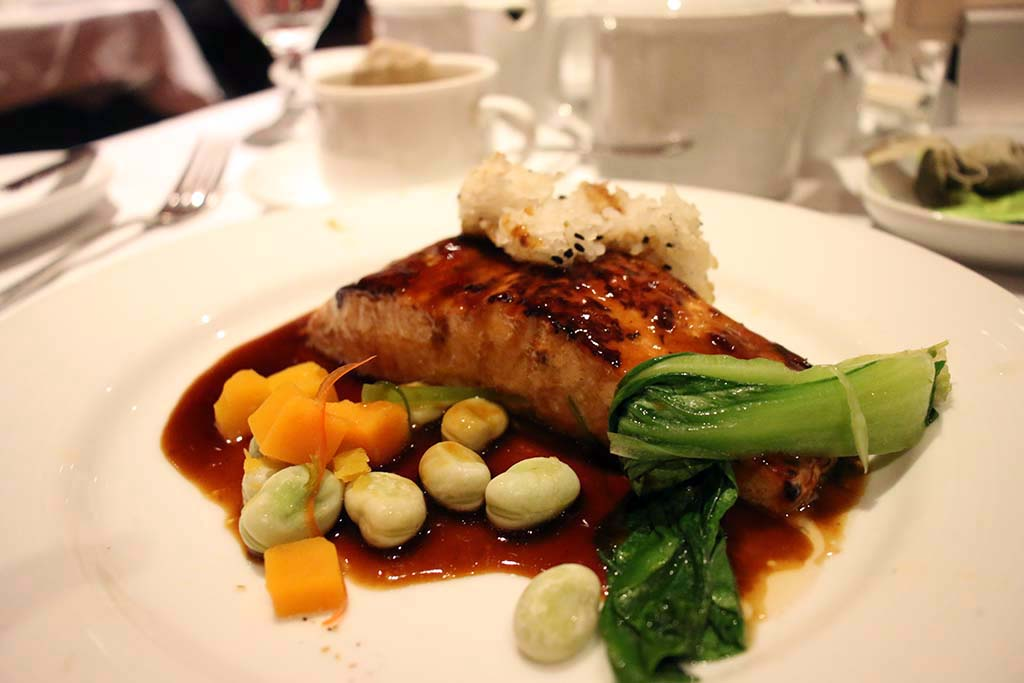 Food on Carnival Dream Cruise Ship Salmon Teriyaki