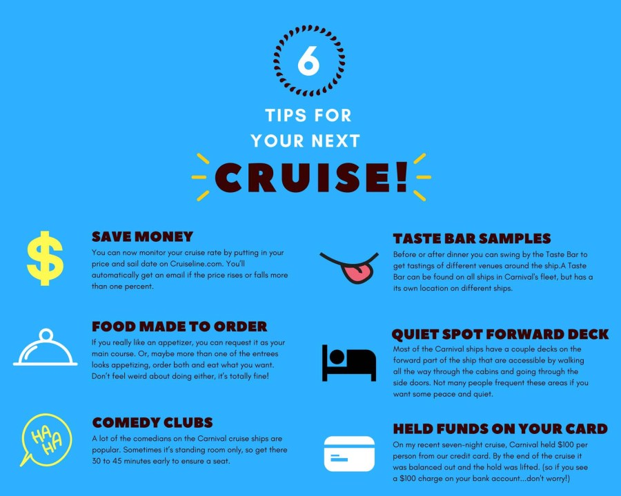 6 Carnival cruise tips for first timers