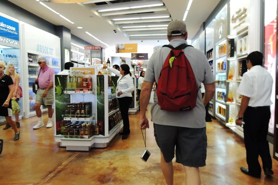 Go shopping in one of the Duty Free Shops by the Cozumel Pier