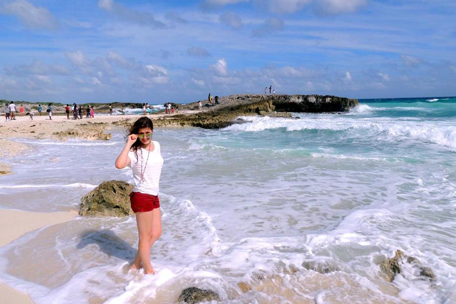 Visit one of the Cozumel Beaches white sand