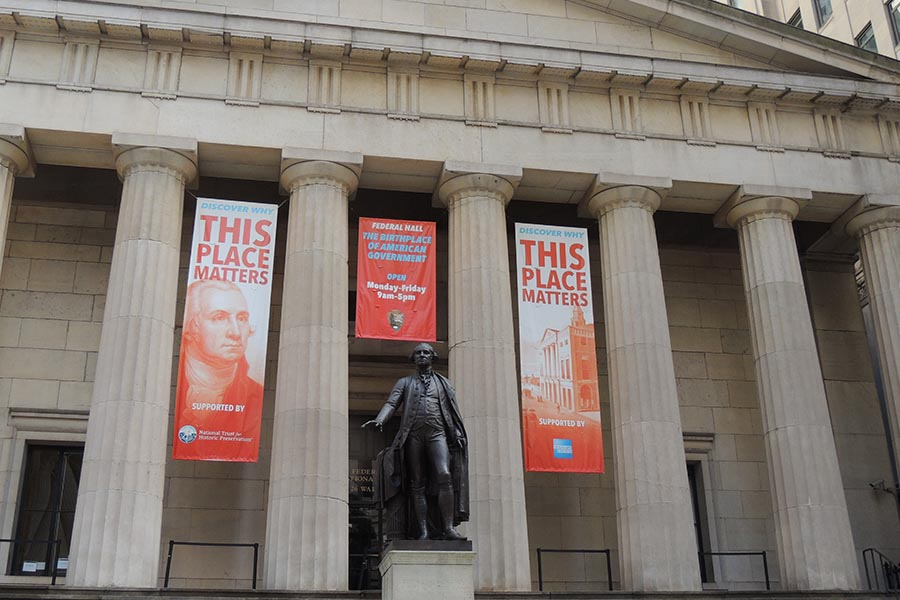 Federal Hall Wall Street Lower Manhattan