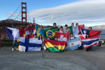 Year Abroad exchange group in California