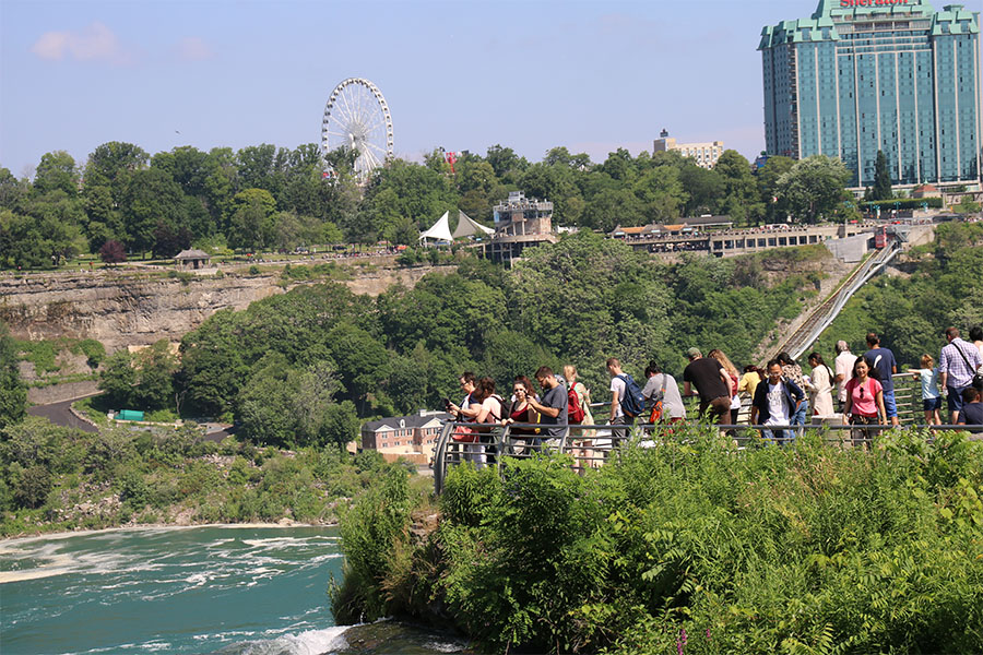 Best observation spots of the falls