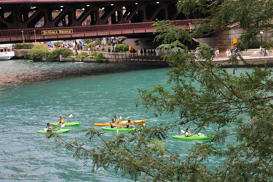 Summer Chicago Bucket List Kayaking down the Chicago River