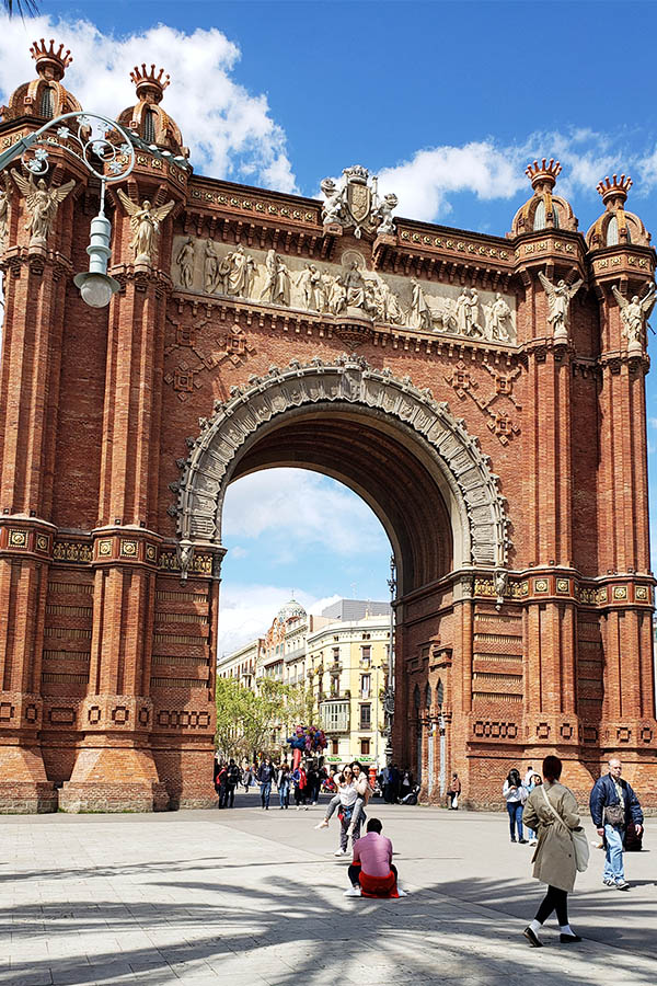 The Arc de Triomf in Parc de la Ciutadella