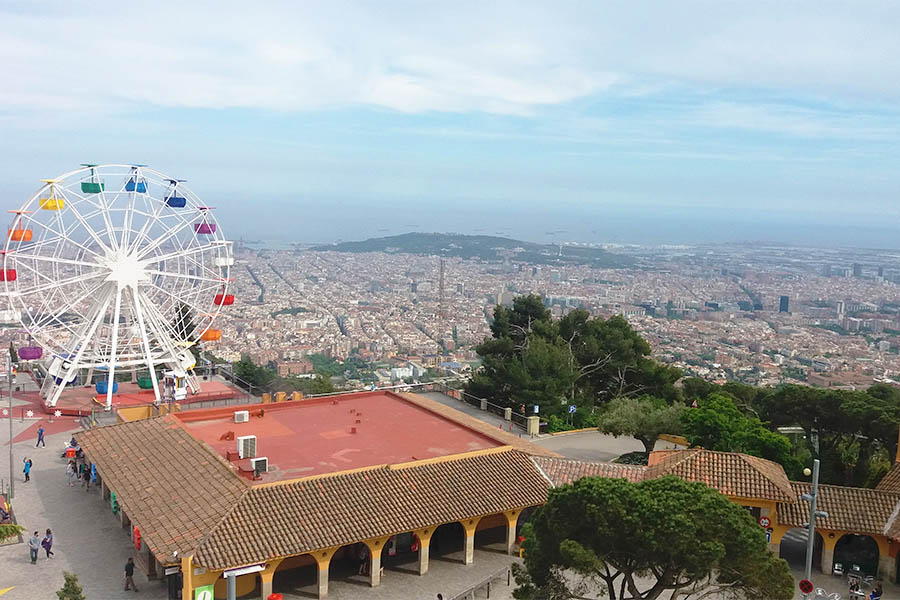 The view of Barcelona from Tibidabo