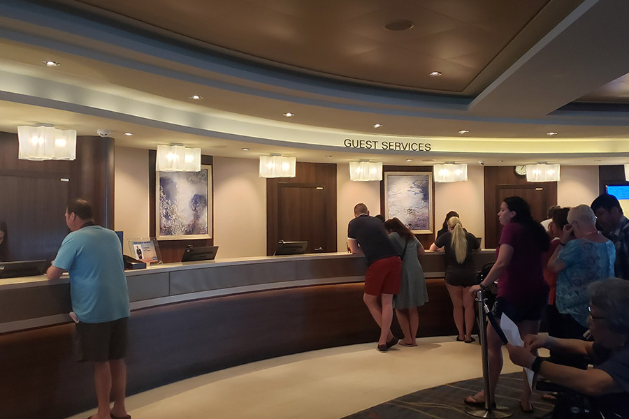 The amount is automatically added to your account daily, but it can be changed at the guest services desk on the last day of your cruise.