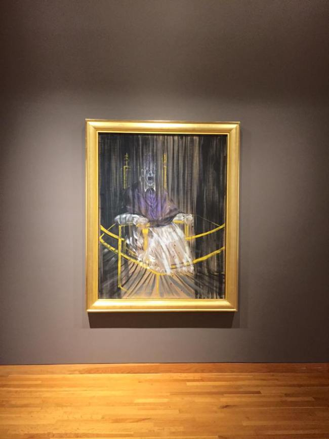 The Study After Velasquez's portrait of Pope Innocent X by Francis Bacon