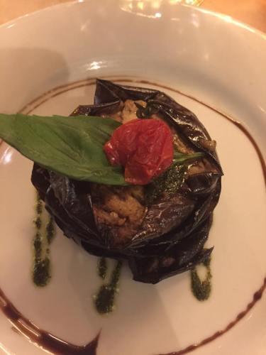 Restaurant Pasco millefeuille of eggplant