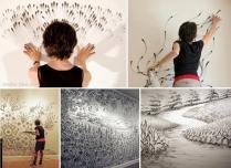 finger drawings