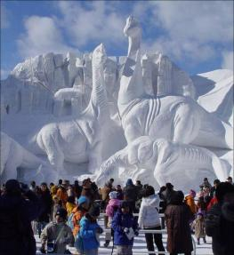 ice scuptors in north china