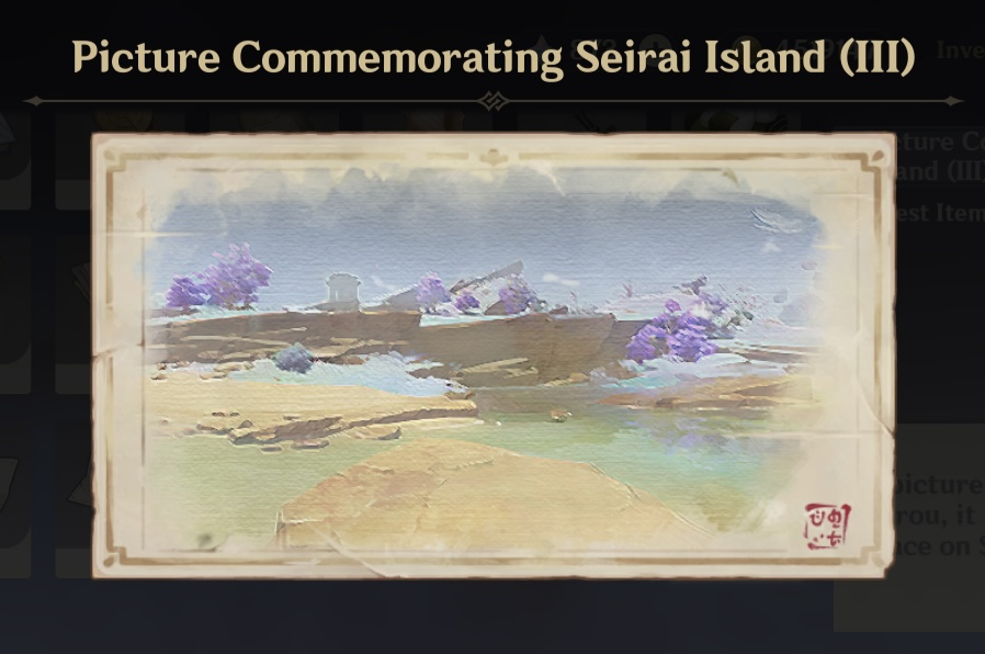 seirai's reminiscence photo locations genshin impact 2.1 quest inazuma