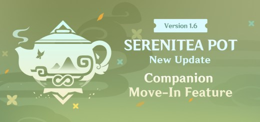 Version 1.6 Update to the Serenitea Pot System - Companion Move-In Feature
