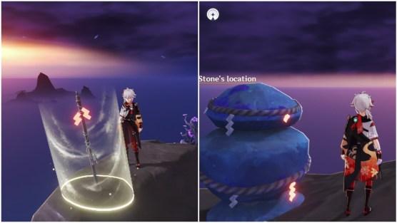 genshin impact seirai stormchasers part 3 inazuma world quest warding stone