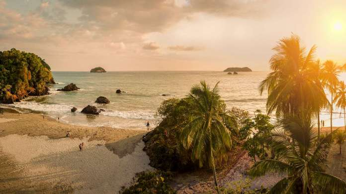 corcovado beach at sunset