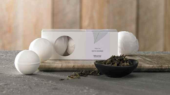 white tea bath bomb