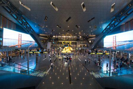 A nemrég megnyílt Hamad repülőtér terminálja. Lesz-e valaha a Wizz-jelenlét Katarban? (Forrás: Wikipedia)