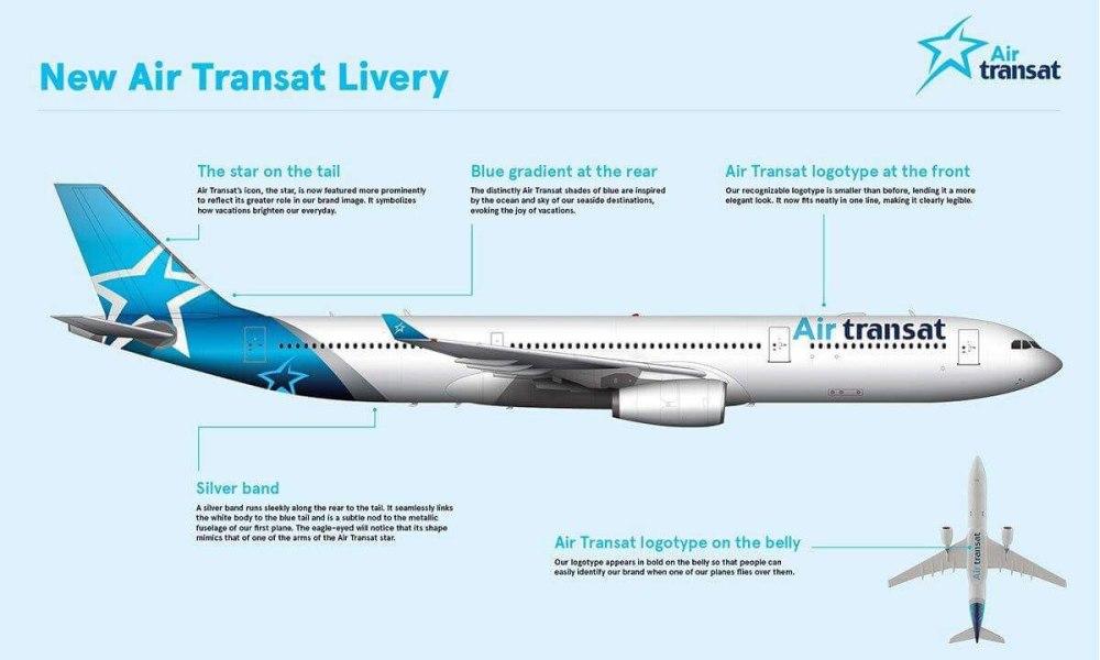 c4e30f4ca7e0 Új, de unalmas festéssel ünnepel a 30 éves Air Transat - Traveler Circle